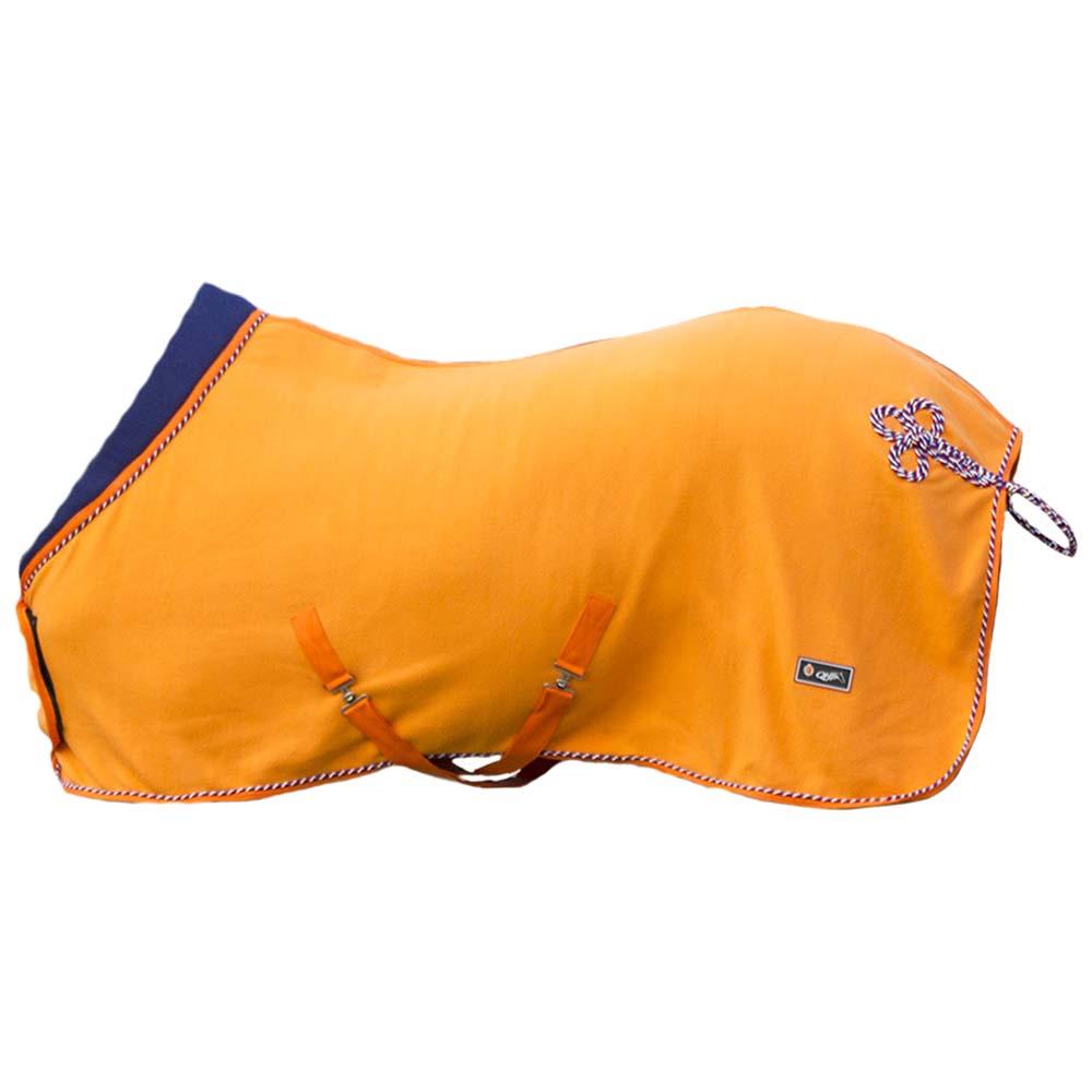 QHP Fleece deken Holland oranje maat:185