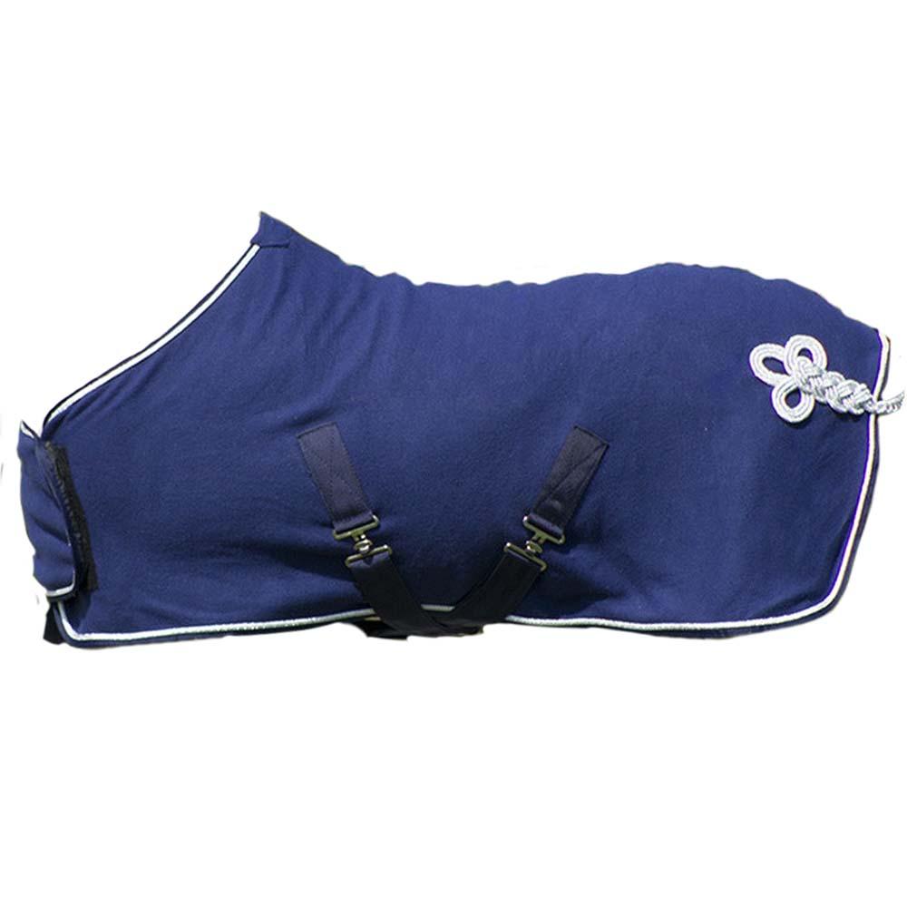 QHP Deken fleece ornament falabella blauw maat:115