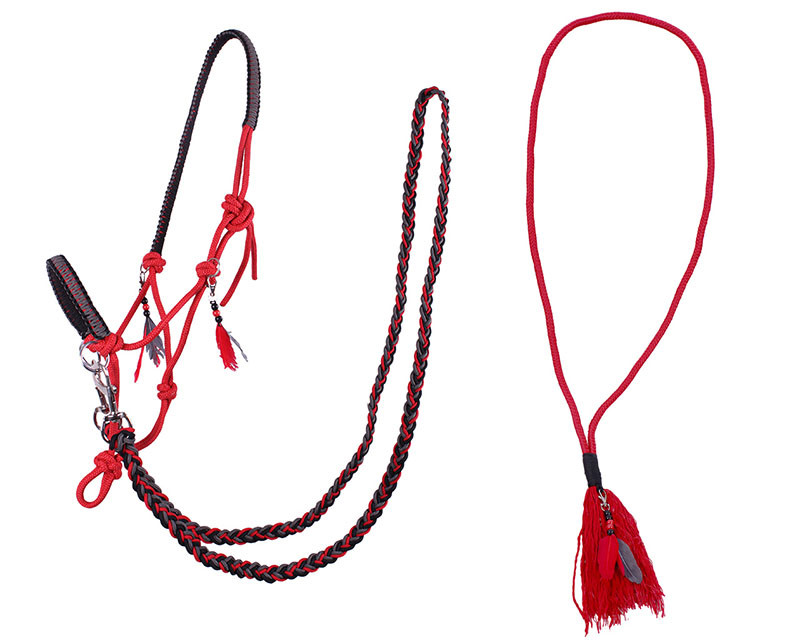 QHP Touwhalster combi Liberty rood maat:shetl