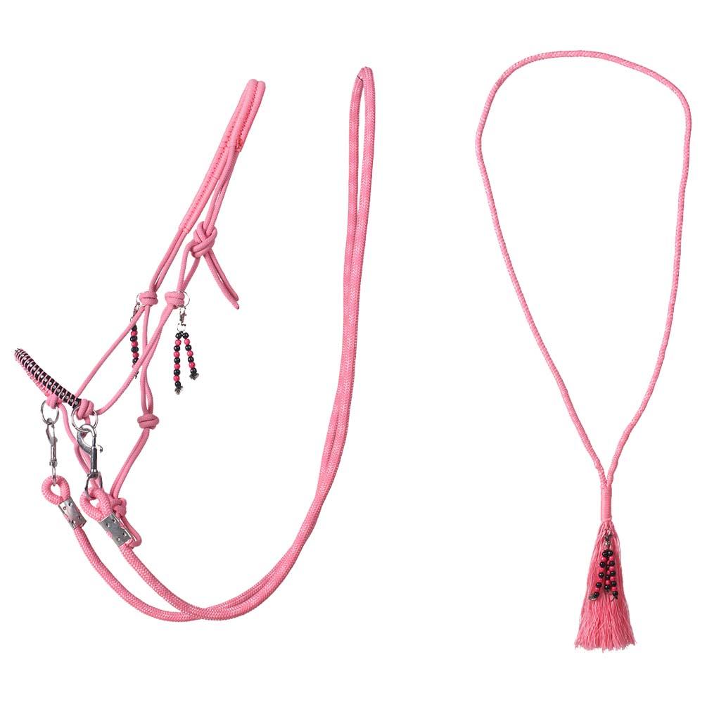 QHP Liberty touwhalster combi roze maat:cob