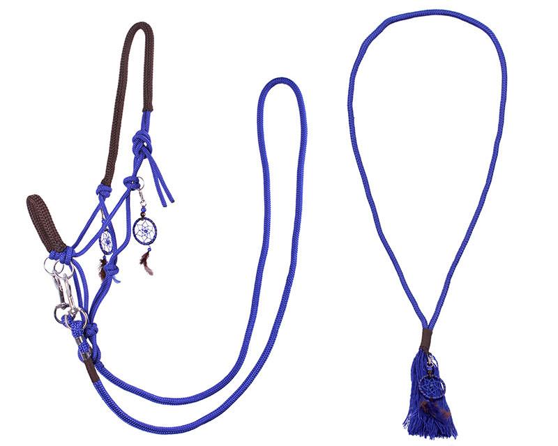 QHP Touwhalster combi Liberty kobalt maat:shetl