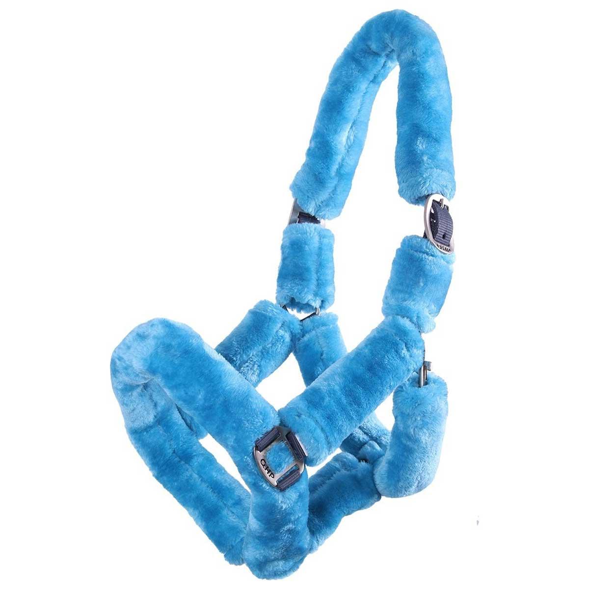 QHP Alaska halster blauw maat:full - Halsters en Touwen