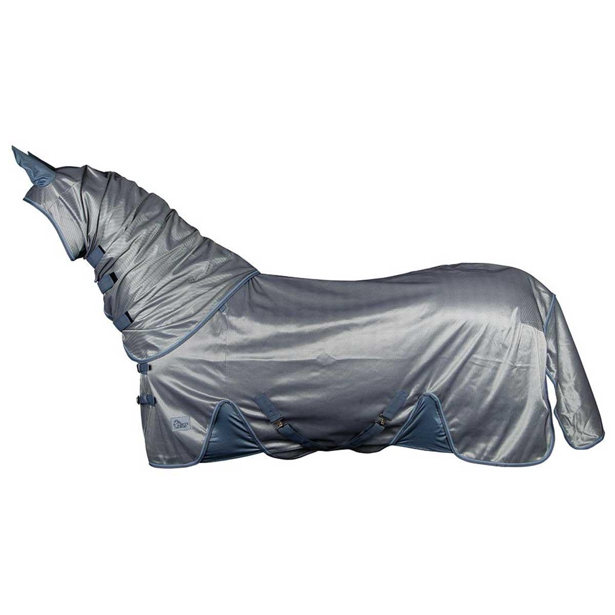 Harrys Horse Mesh Reflective vliegendeken lichtblauw maat:185