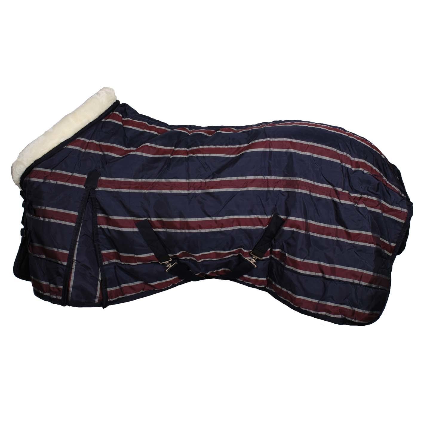 Pagony Stripe 160 staldeken donkerblauw maat:175