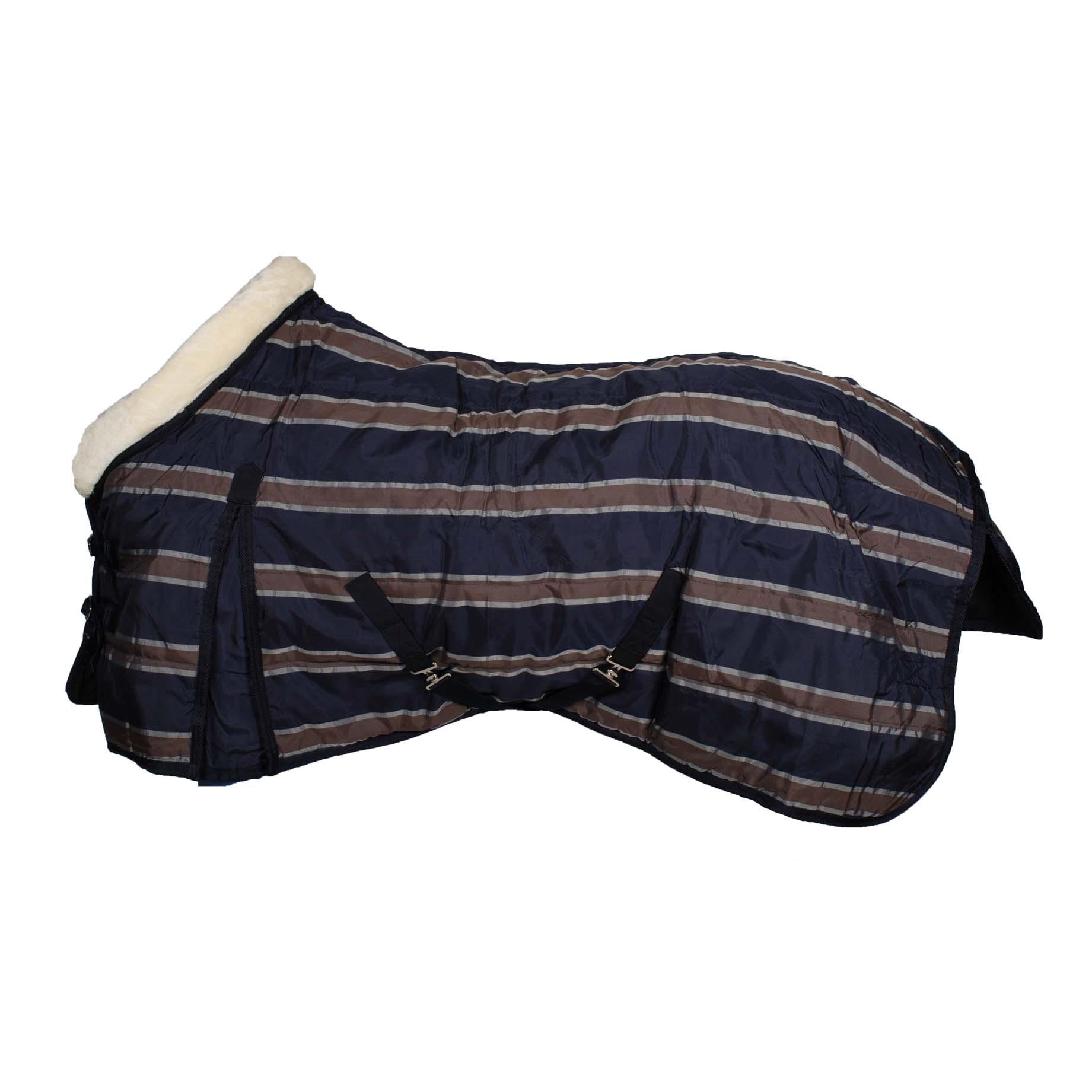Pagony Stripe 220 staldeken donkerblauw maat:175