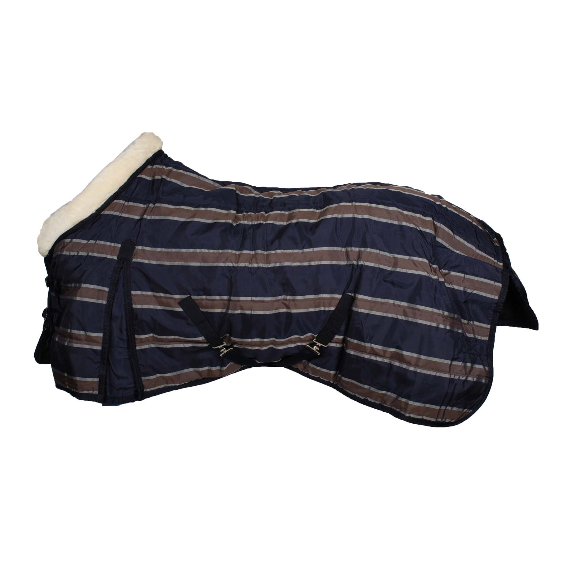 Pagony Stripe 220 staldeken donkerblauw maat:195