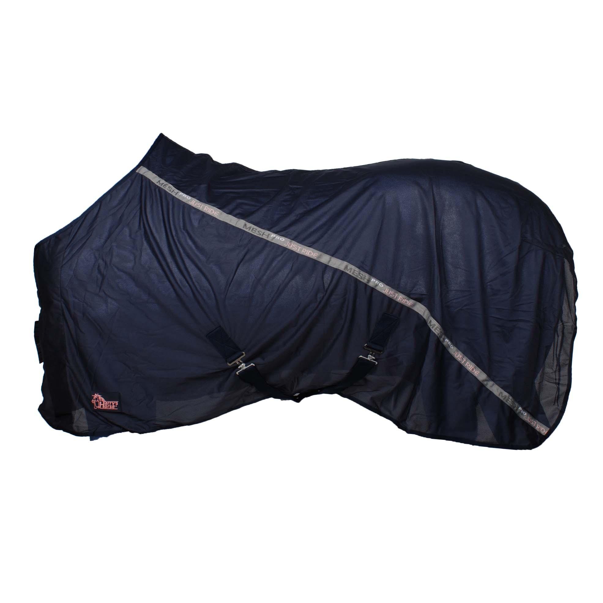 Harrys Horse Mesh Pro Just Ride VJ20 zweetdeken donkerblauw maat:195