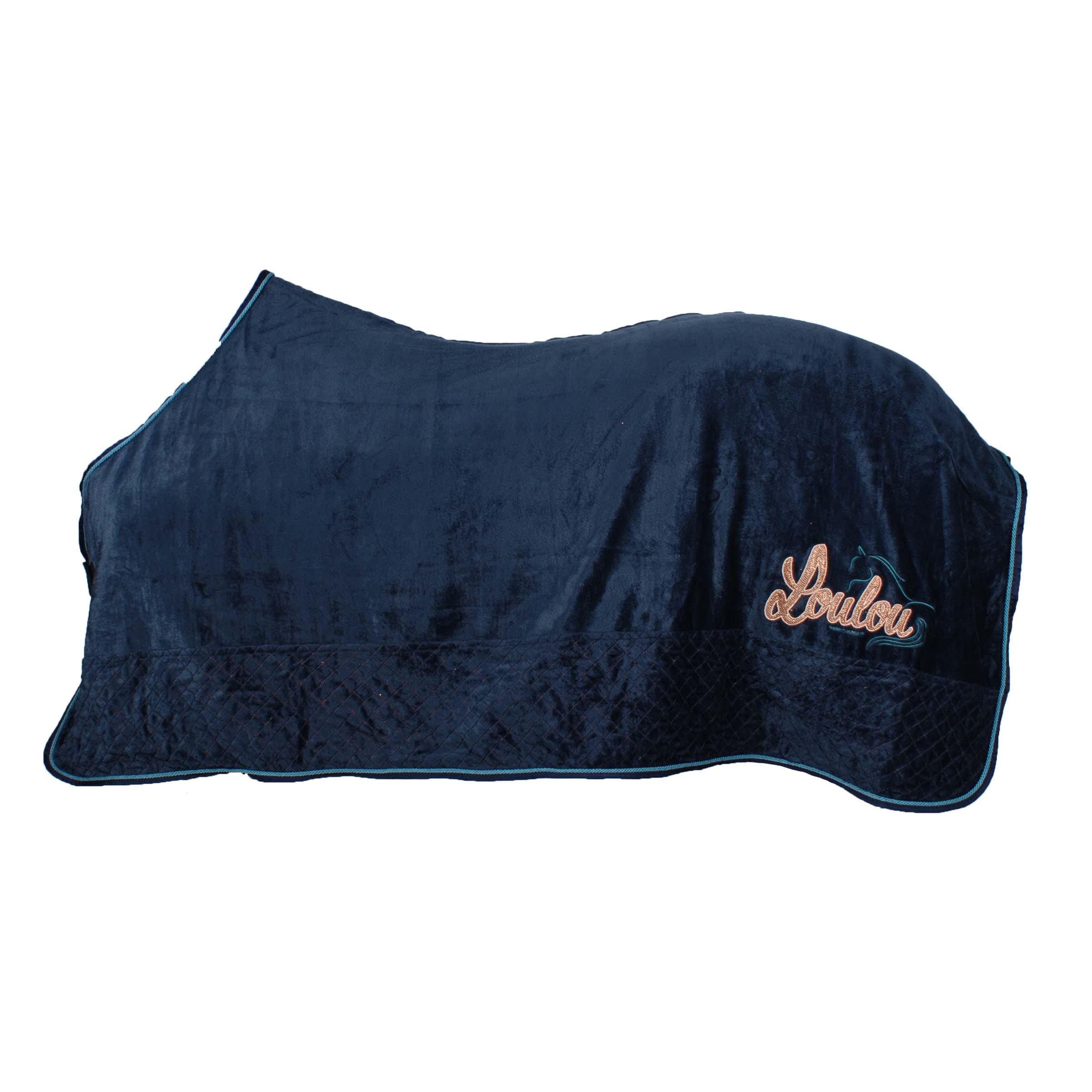 Harrys Horse Loulou NJ20 fleece deken donkerblauw maat:165