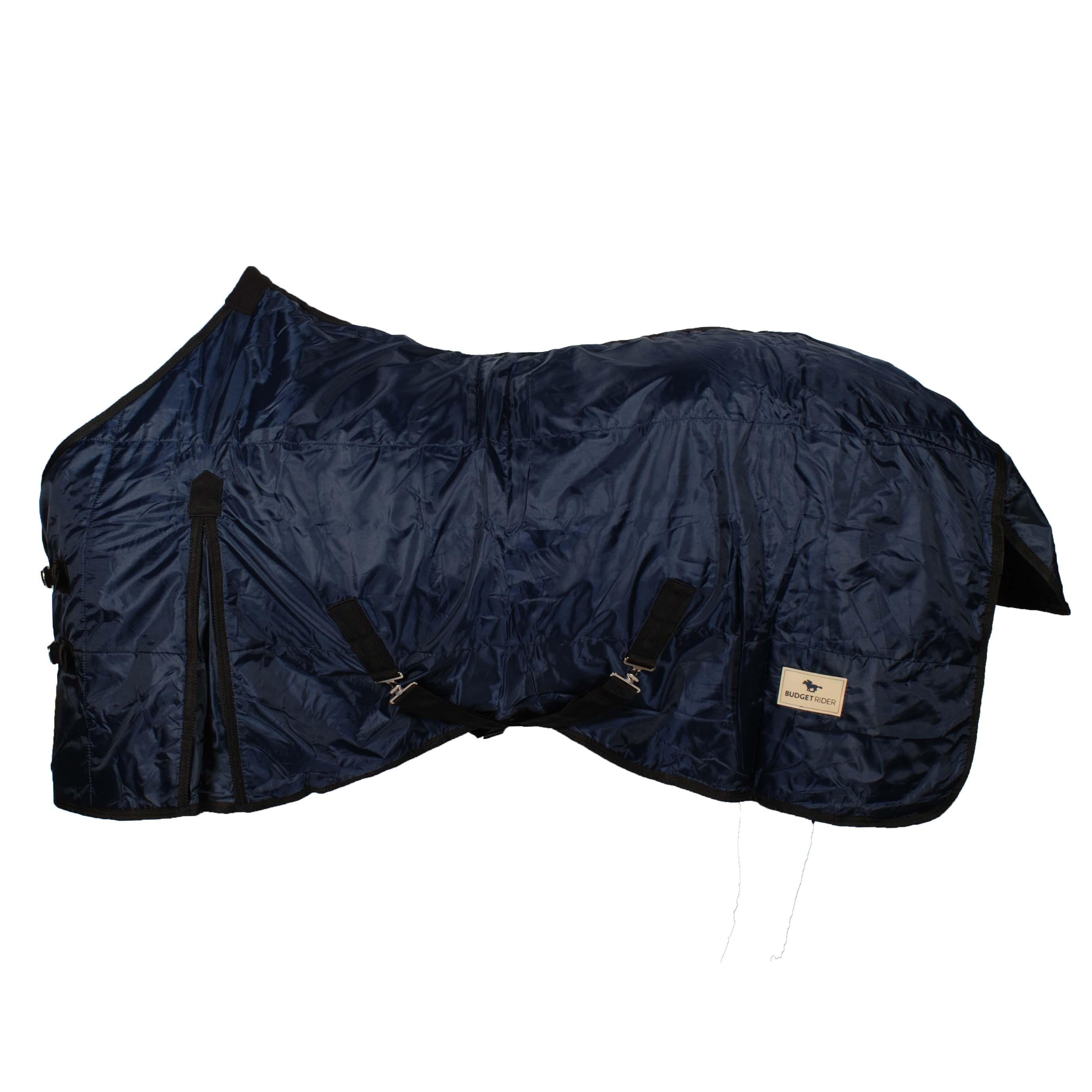Budget Rider fleece gevoerde staldeken donkerblauw maat:195
