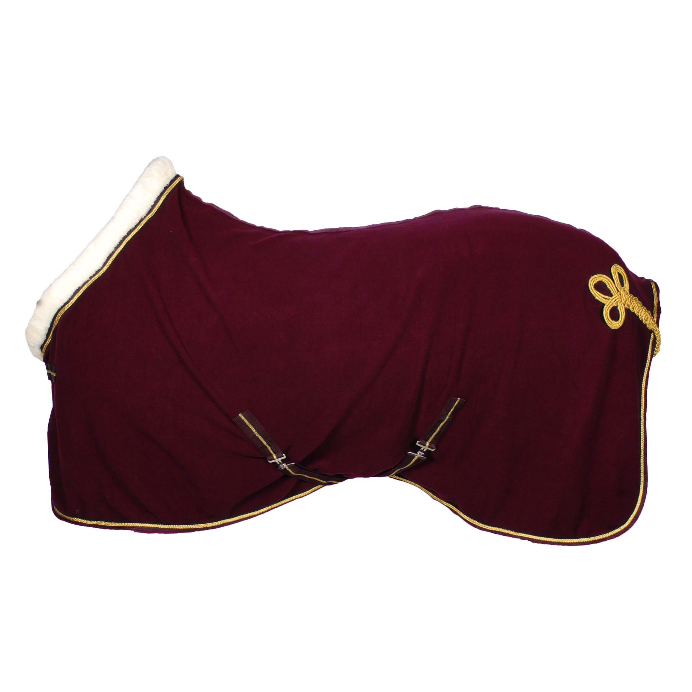 Pagony Collar fleecedeken bordeaux maat:195