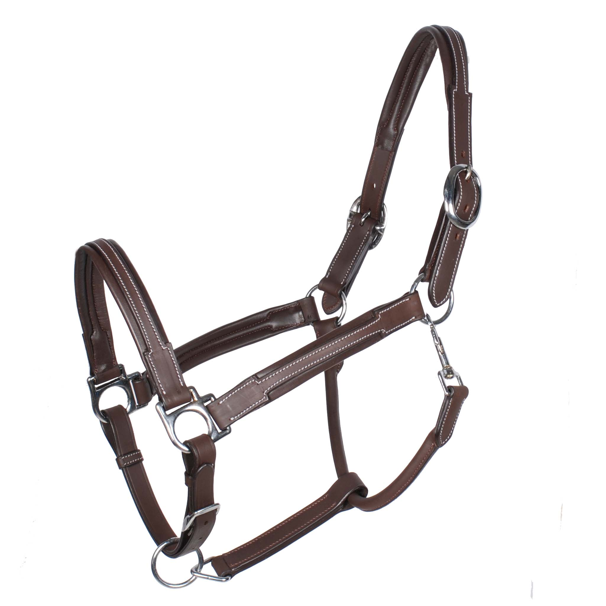 Pagony Denver soft leather halster donkerbruin maat:pony