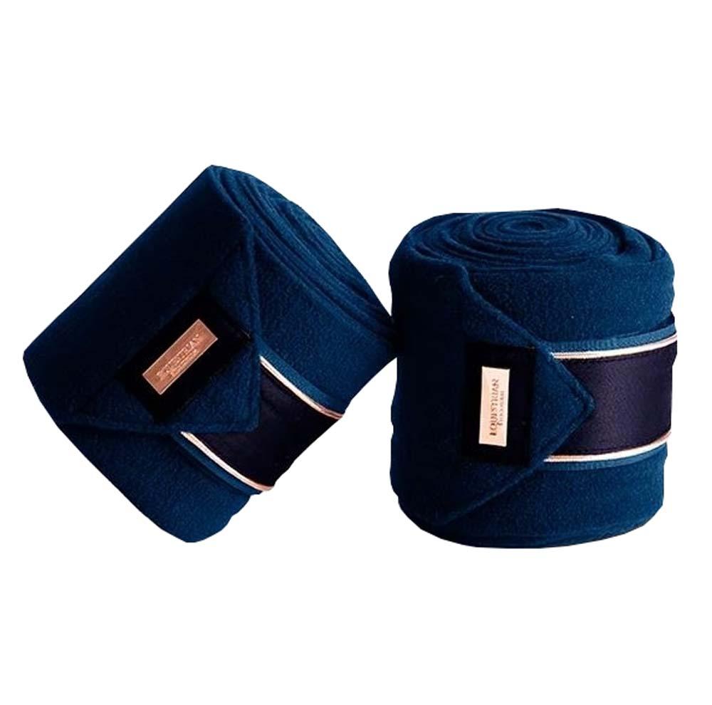 Equestrian Stockholm Fleece Bandages blauw maat:one size