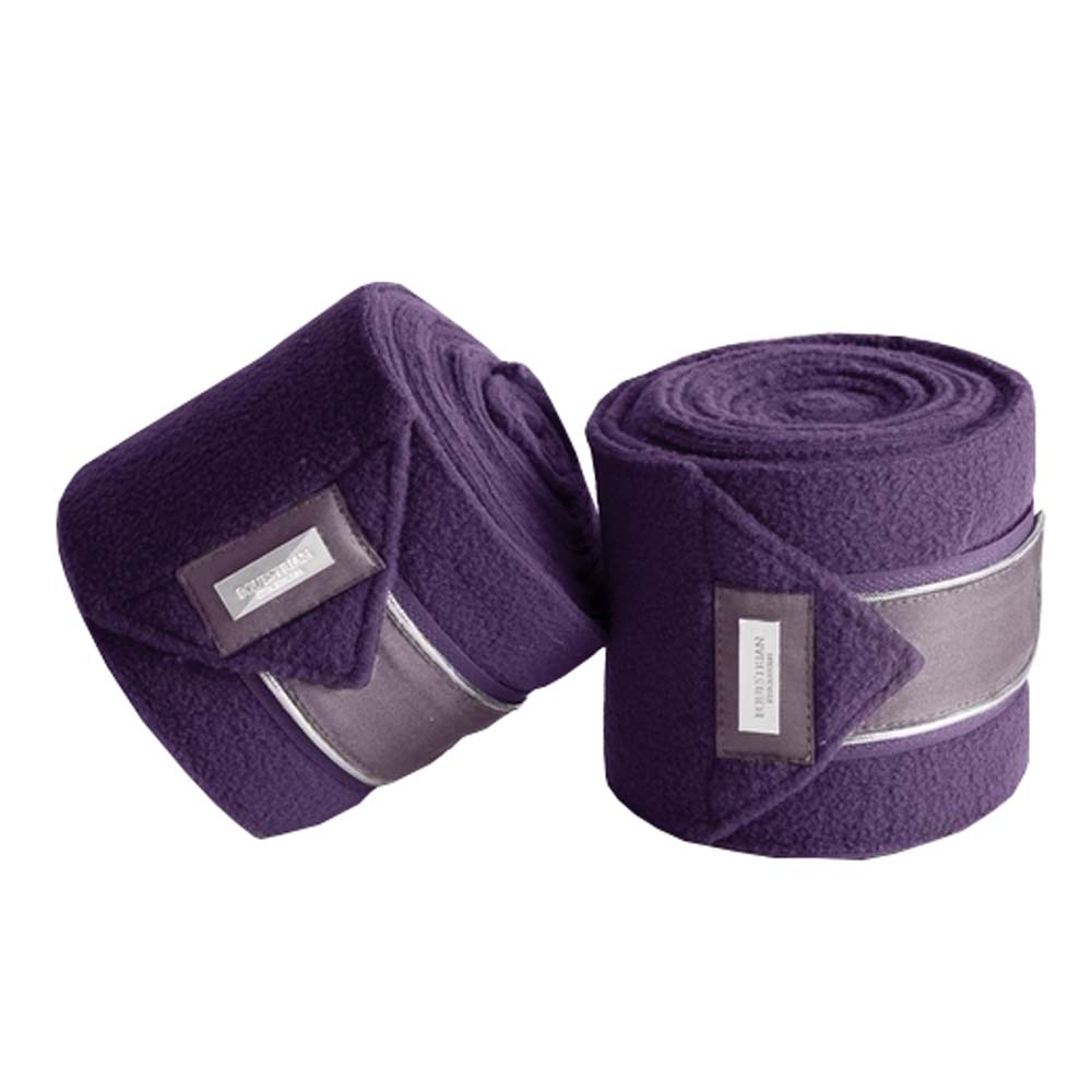 Equestrian Stockholm Fleece Bandages paars maat:one size