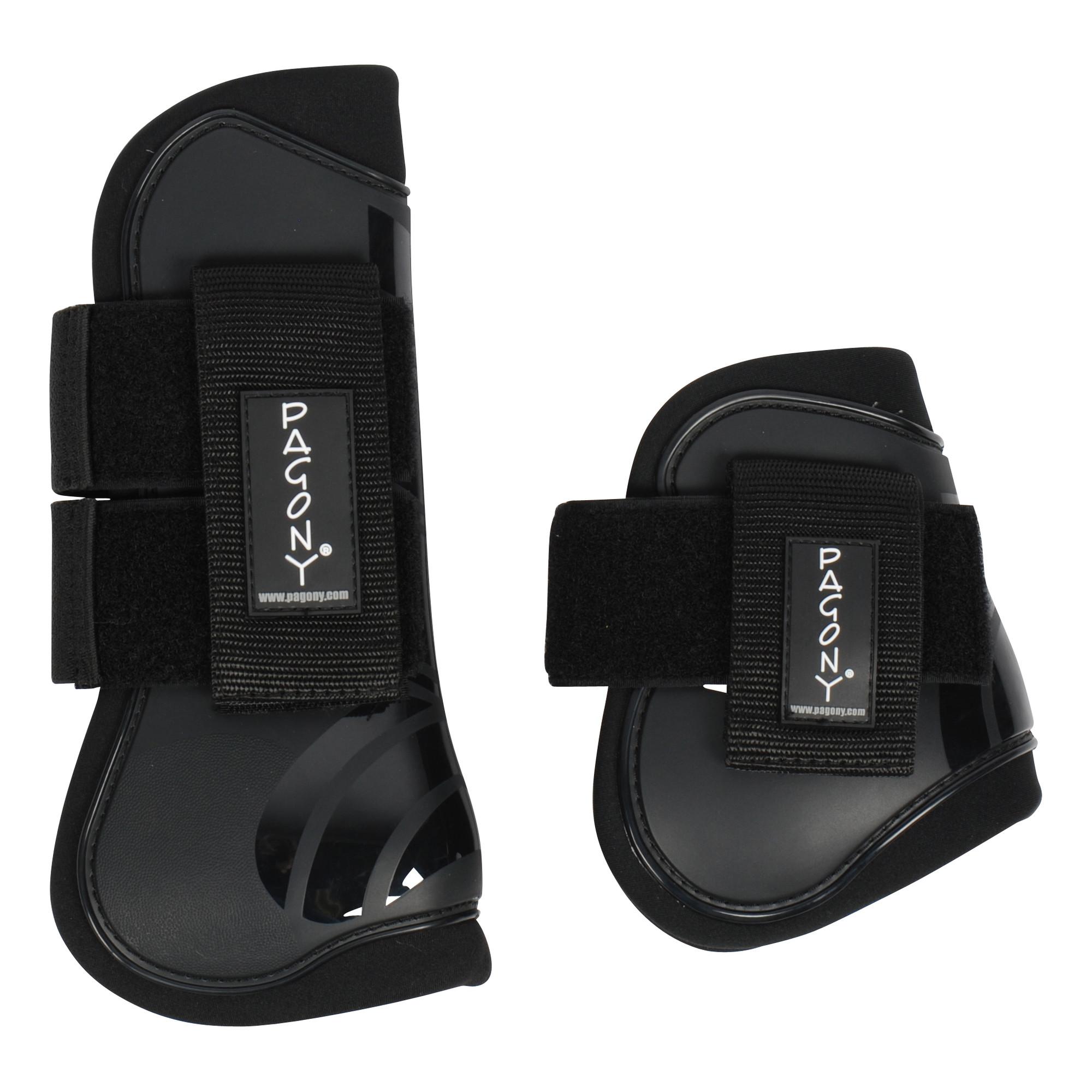 Pagony Pro Velcro Pees- en kogelbeschermerset donkerblauw maat:pony
