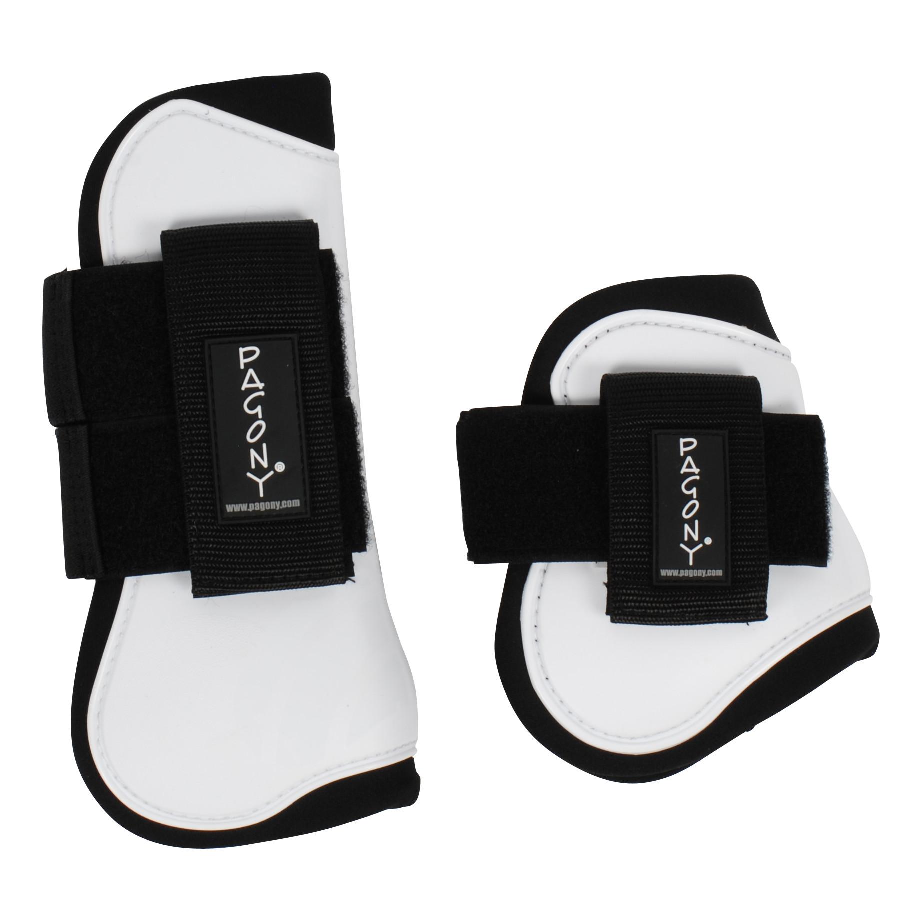 Pagony Pro Velcro Pees- en kogelbeschermerset wit maat:full