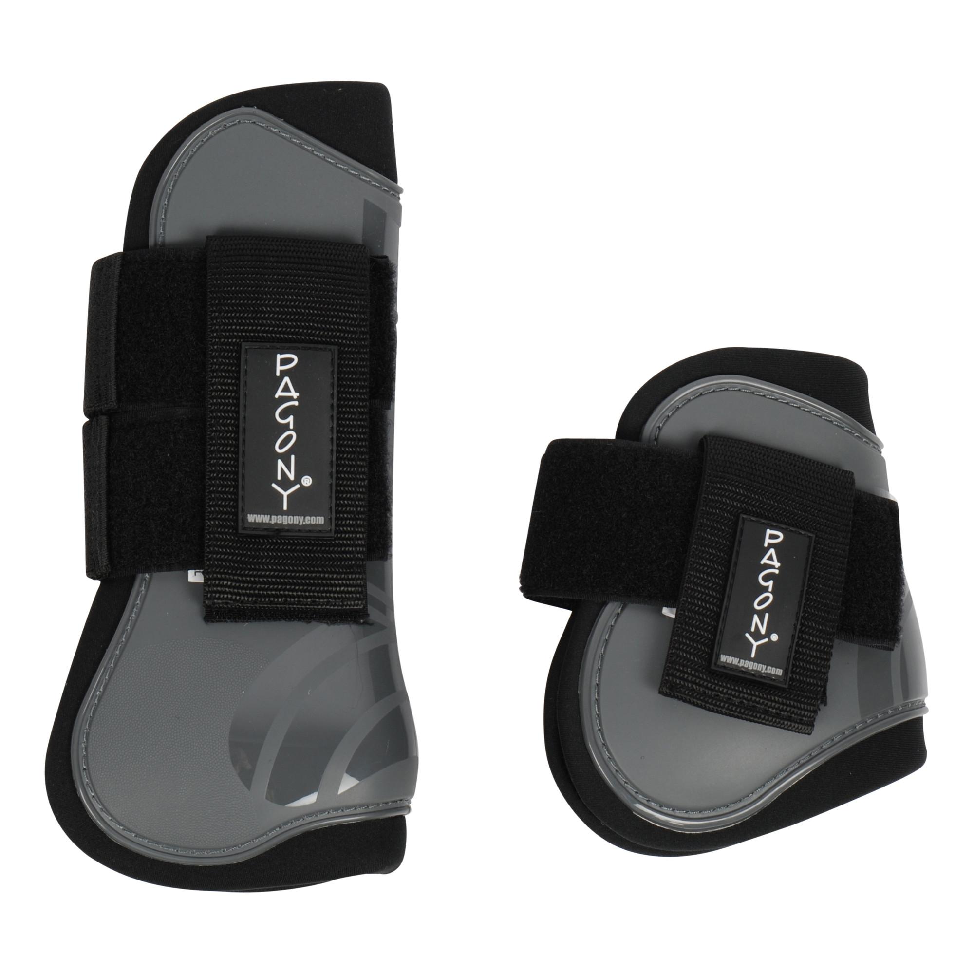 Pagony Pro Velcro Pees- en kogelbeschermerset grijs maat:pony