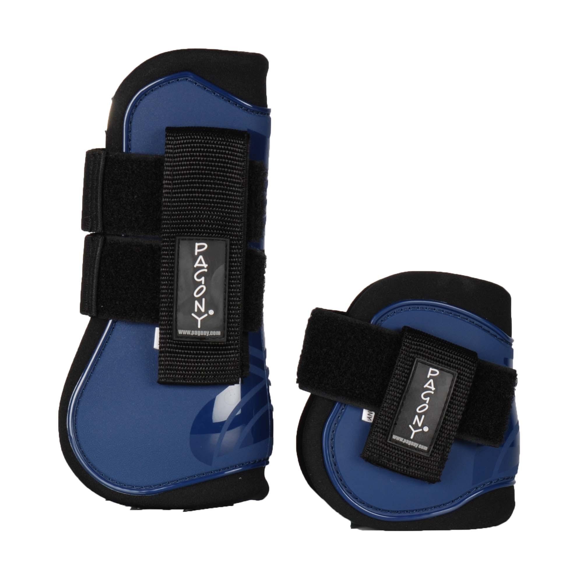 Pagony Pro Velcro Pees- en kogelbeschermerset donkerblauw maat:full