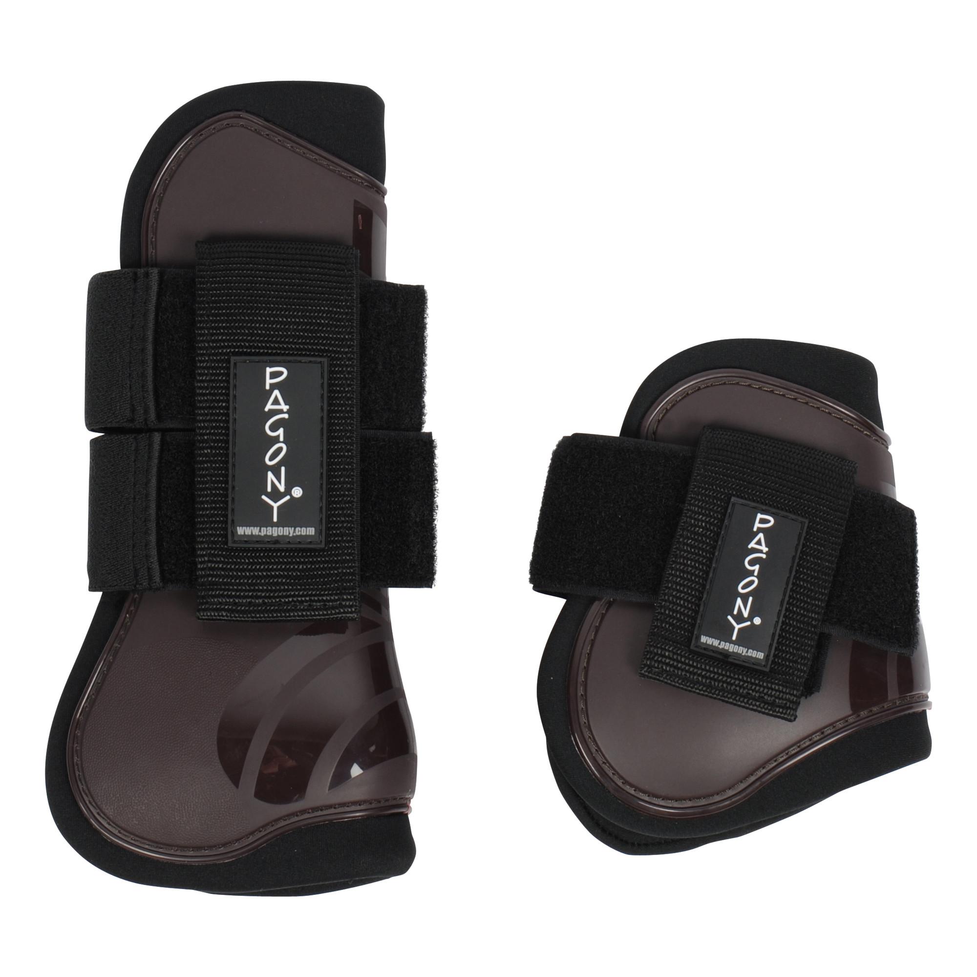 Pagony Pro Velcro Pees- en kogelbeschermerset bruin maat:full - Beenbescherming