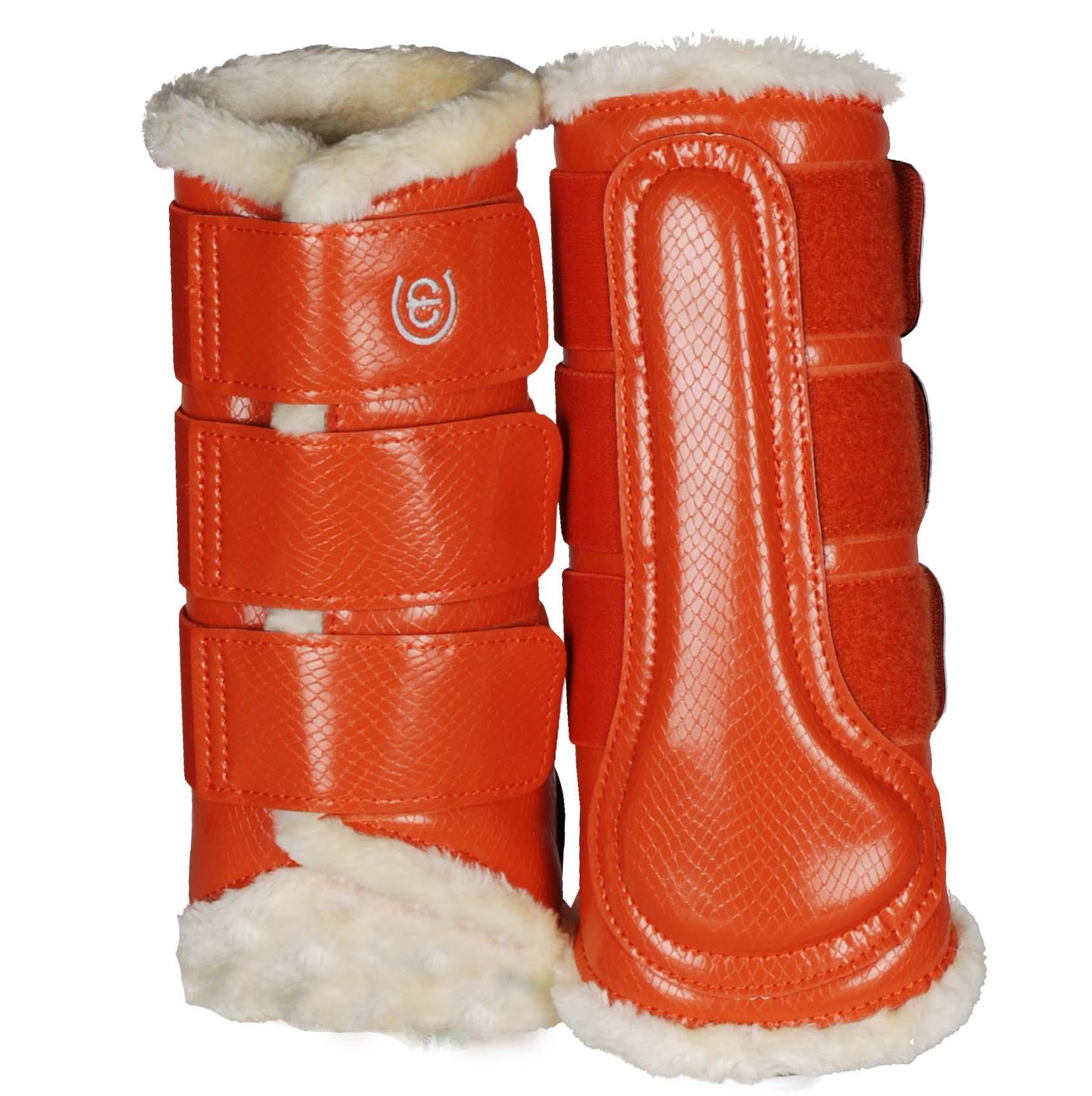 EQ beenbeschermers achter oranje maat:m