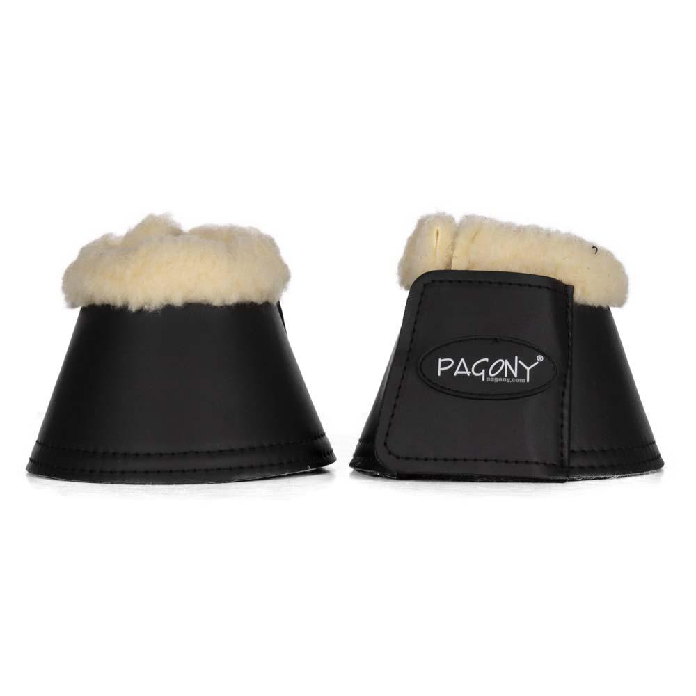 Pagony Fake Fur springschoenen zwart maat:s