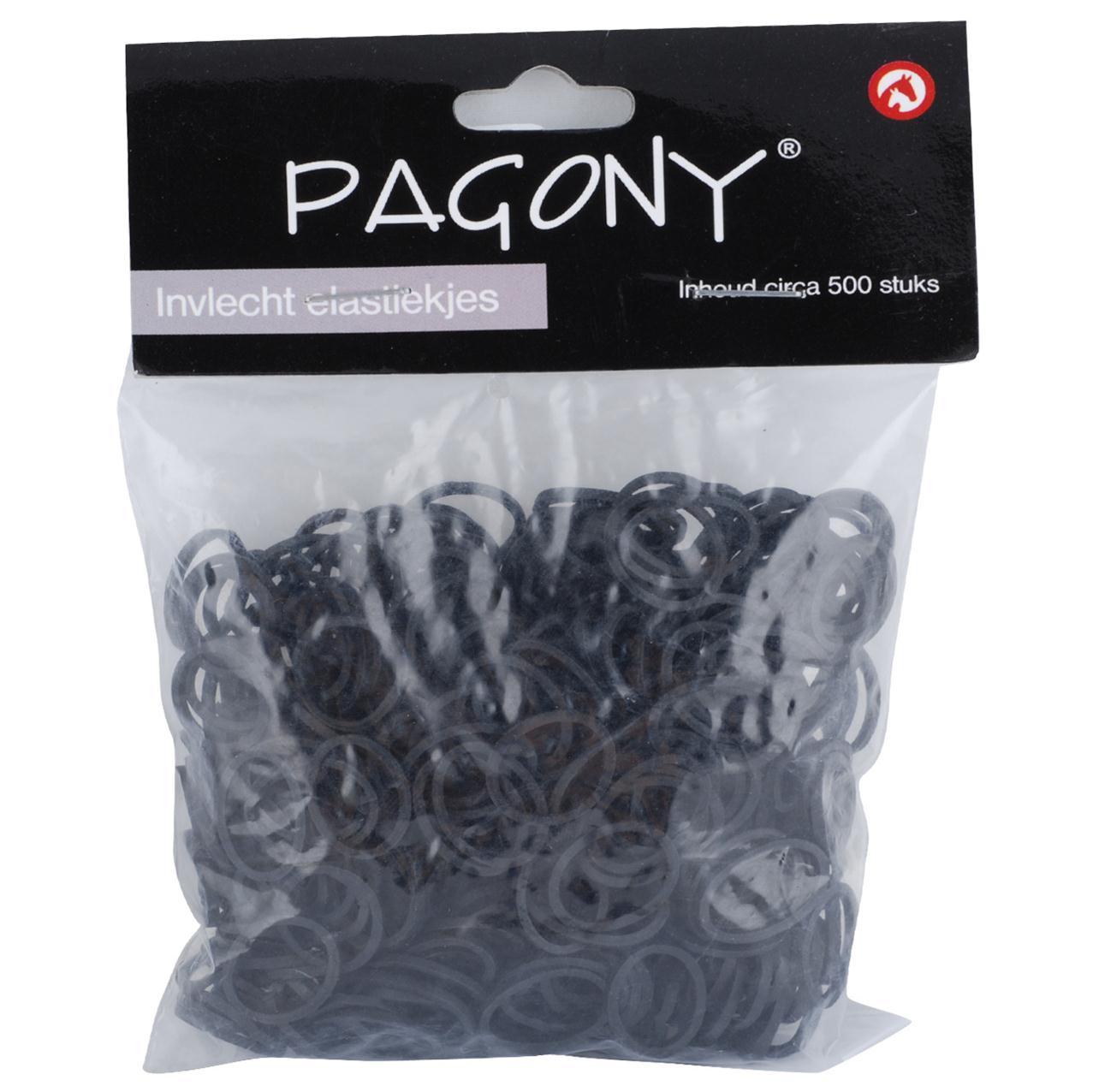 Invlecht elastiekjes zwart