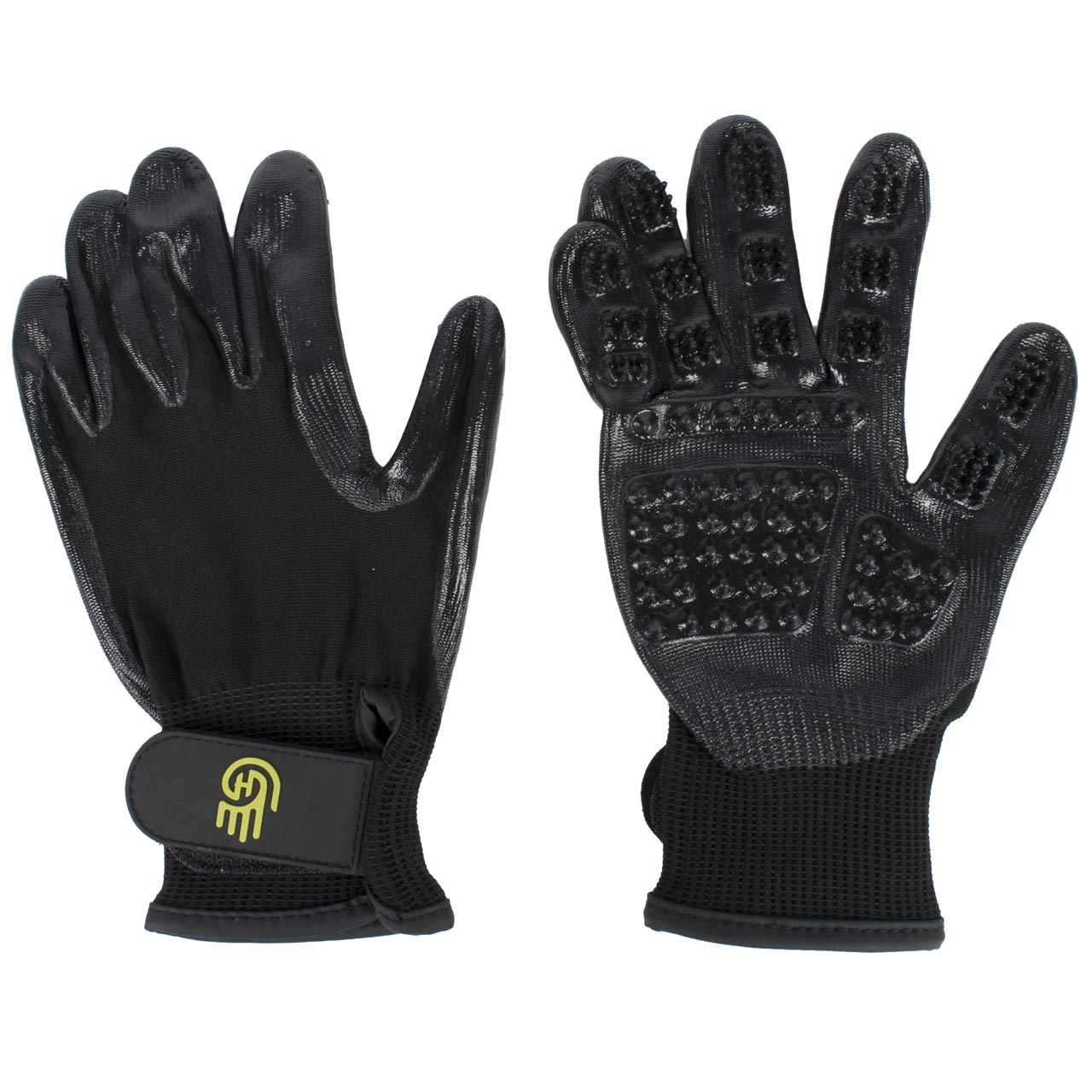 LeMieux Grooming Glove Hands on