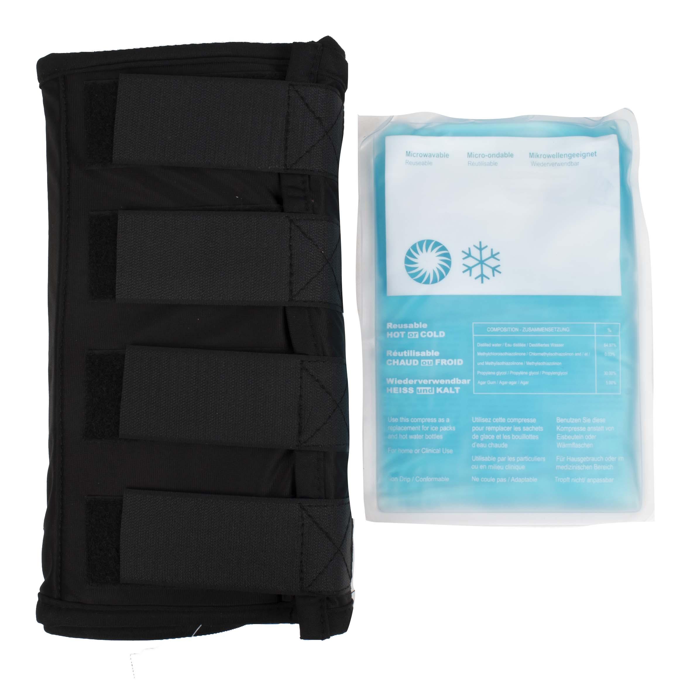 QHP Warming/Cooling beenbeschermer zwart maat:full