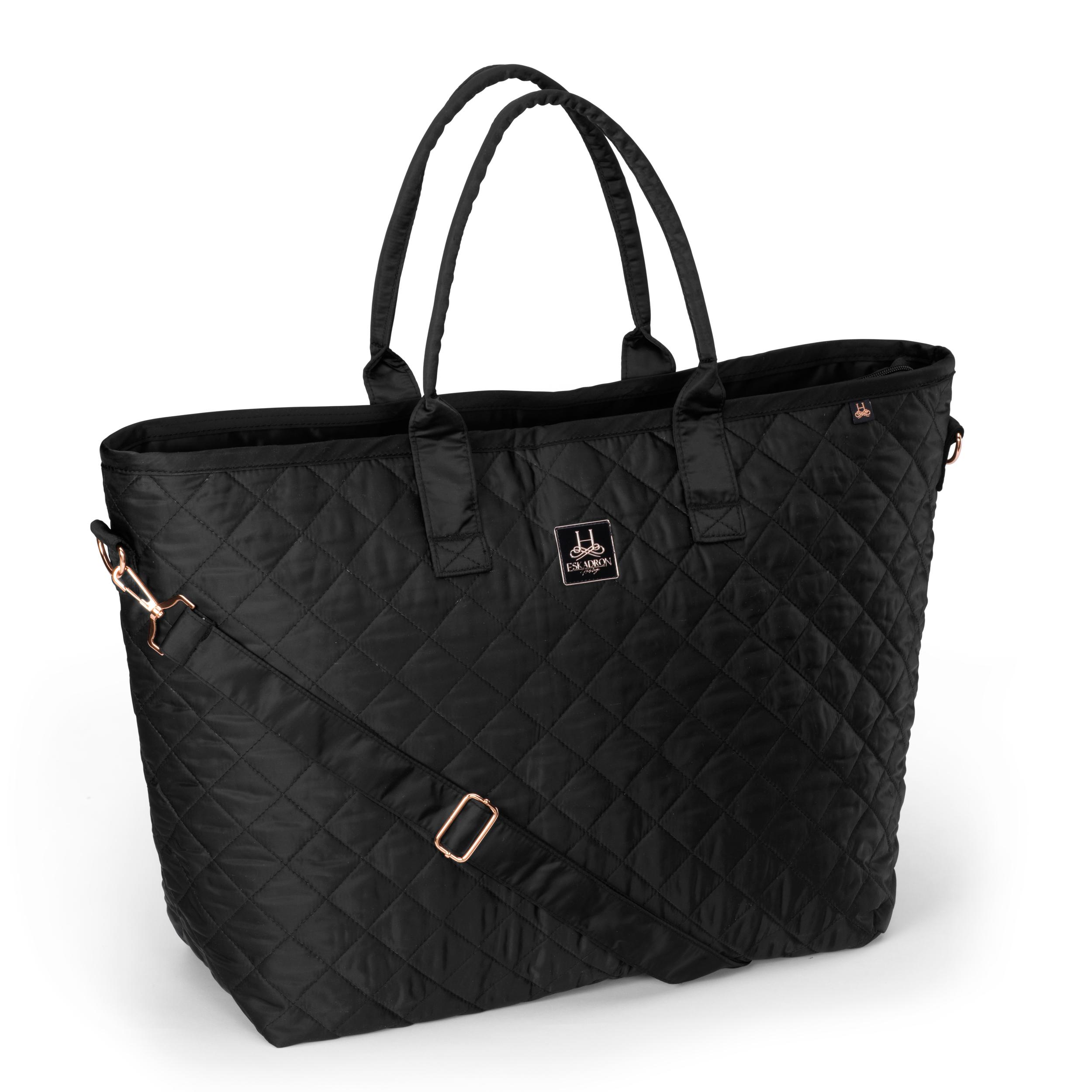 Eskadron Glossy Quilted Shopper Bag zwart