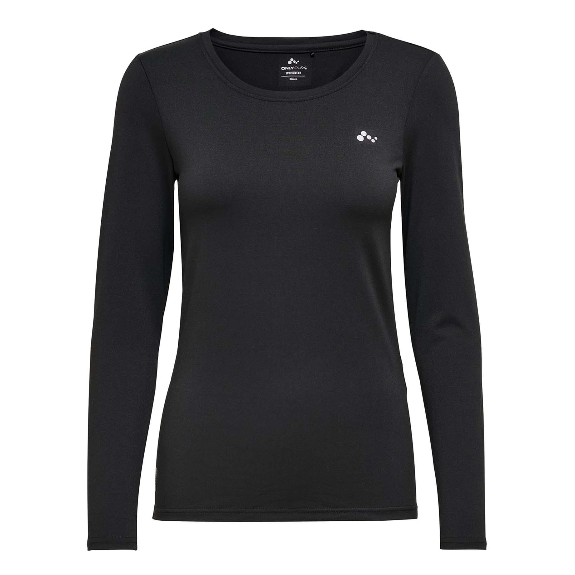 Only Play Clarissa longsleeve Trainingsshirt zwart maat:s