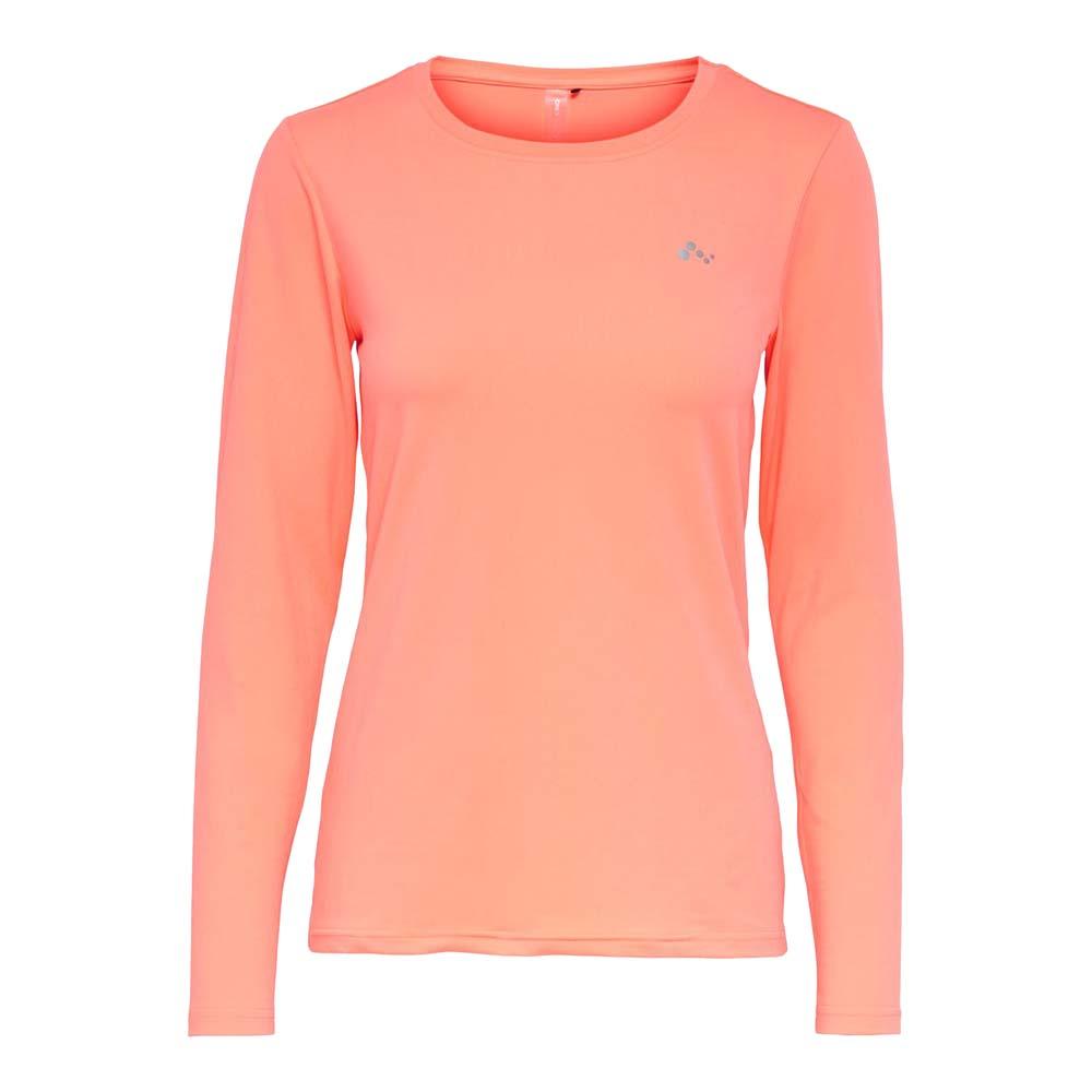Only Play Clarissa longsleeve Trainingsshirt koraal maat:l