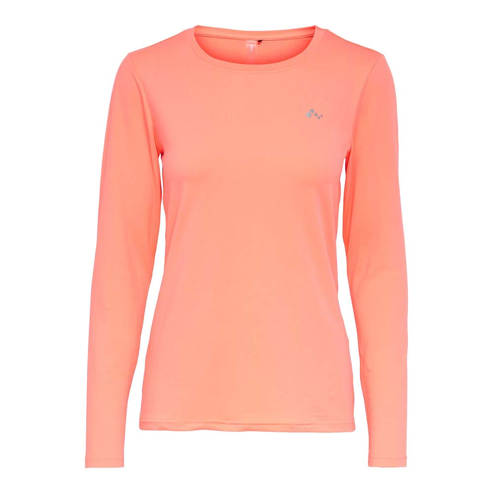 Only Play Clarissa longsleeve Trainingsshirt koraal maat:xl