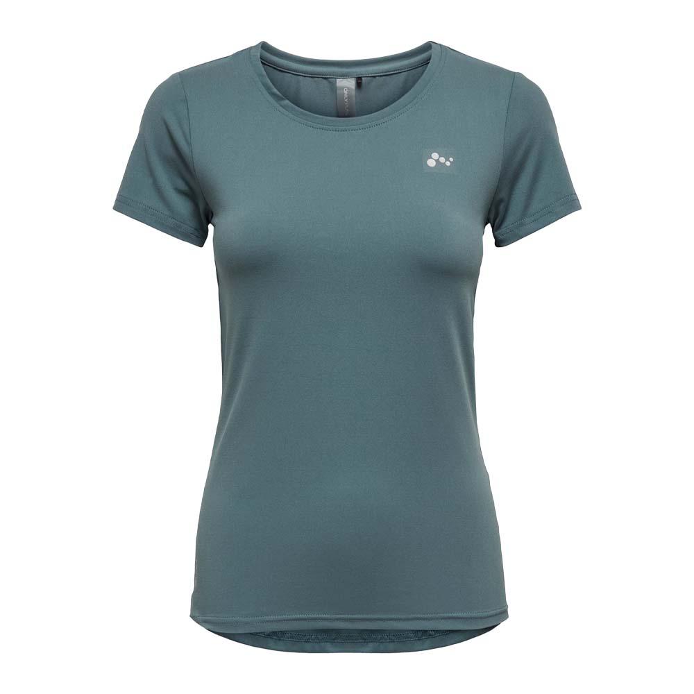 Only Play Clarissa short sleeve Trainingsshirt blauw maat:m