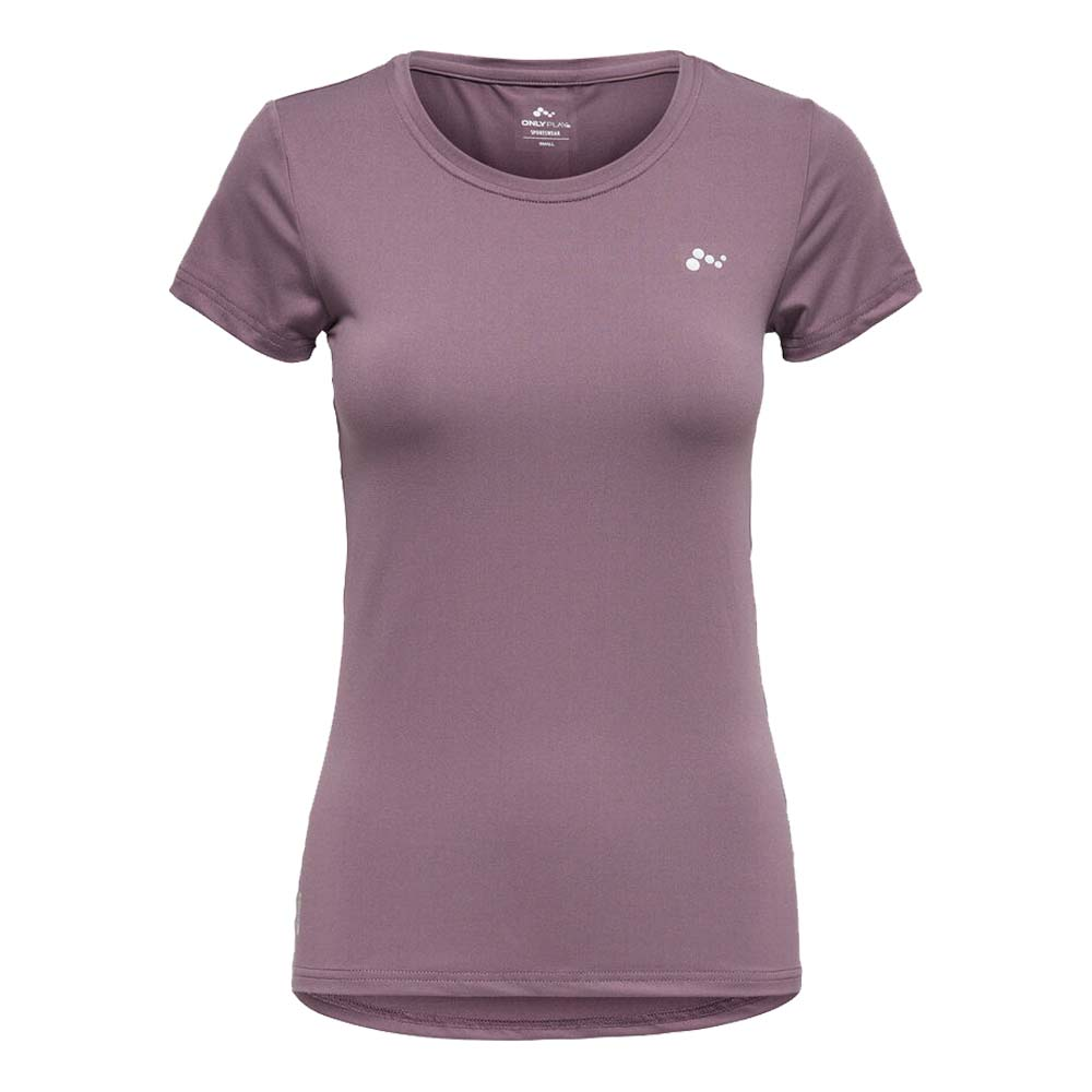 Only Play Clarissa short sleeve Trainingsshirt lila maat:l