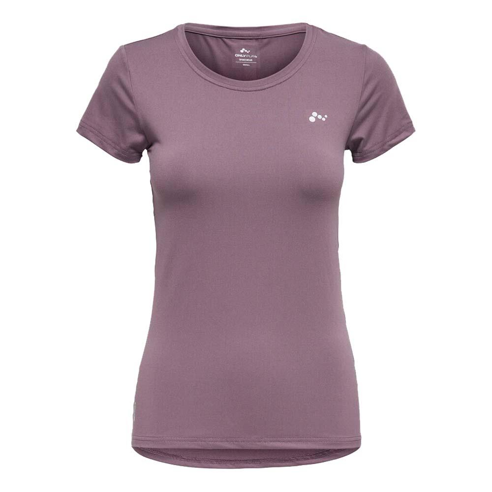 Only Play Clarissa short sleeve Trainingsshirt lila maat:xl