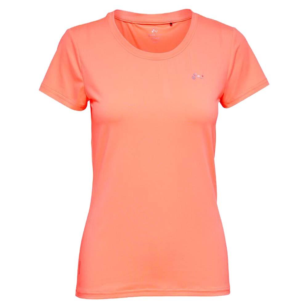 Only Play Clarissa short sleeve Trainingsshirt koraal maat:xl