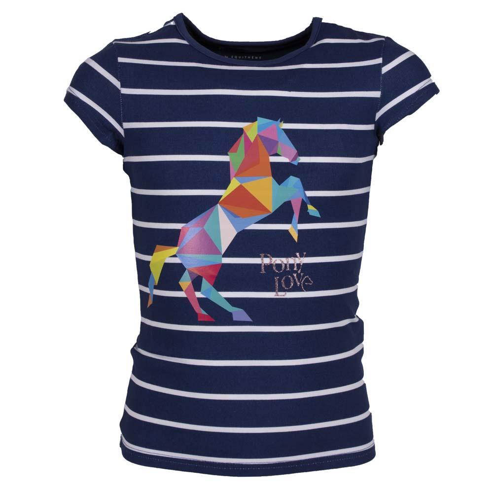 Equitheme Naomi Stripe kinder T-shirt multi maat:140