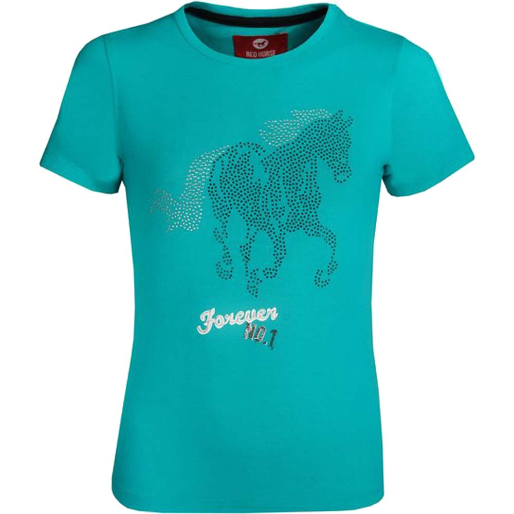 Red Horse Shirt Print kinder T-Shirt groen maat:128