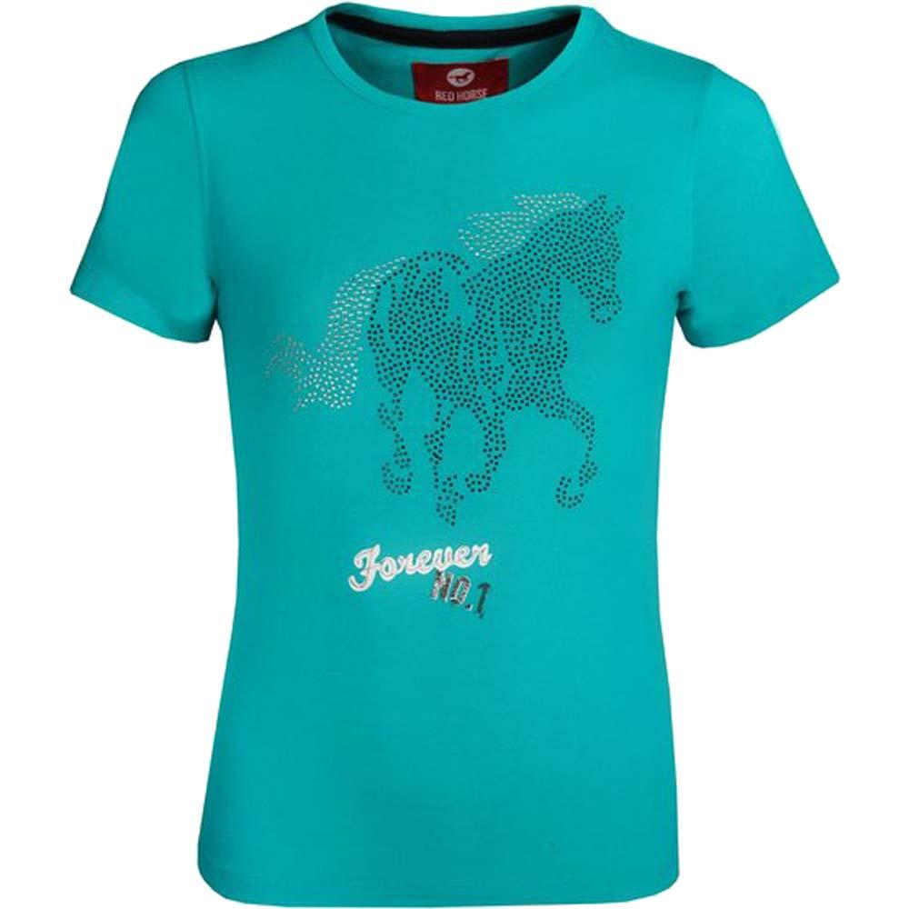 Red Horse Shirt Print kinder T-Shirt groen maat:140