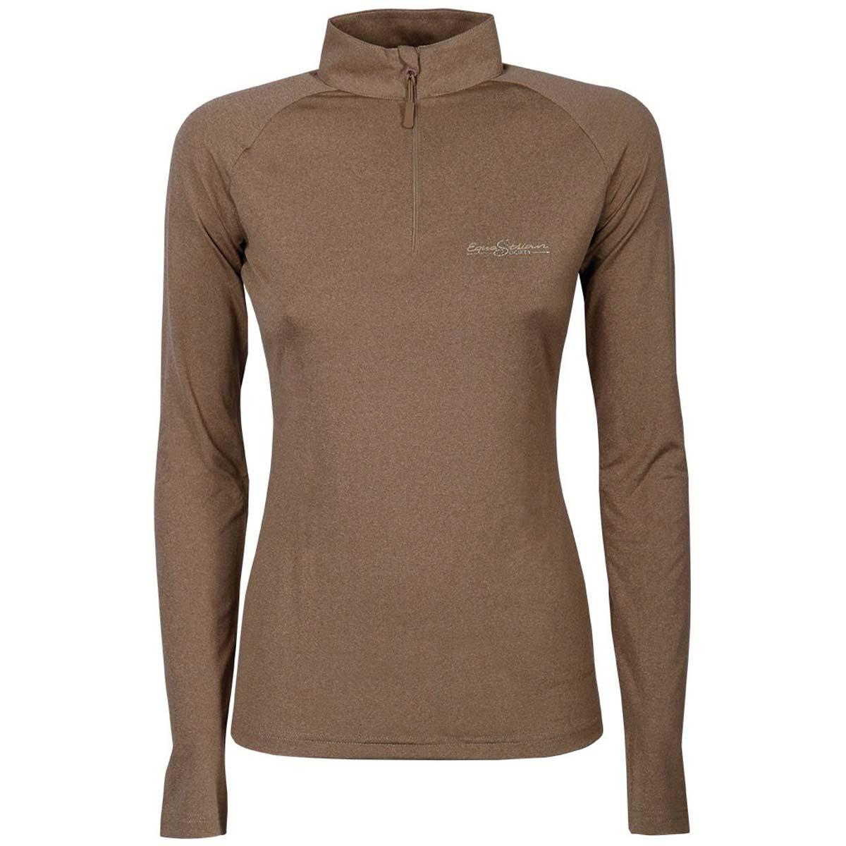 Harry's Horse Lier Techshirt bruin maat:xl