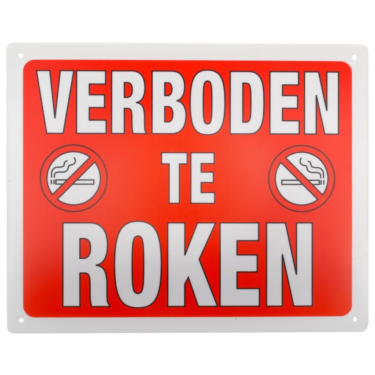 Bord: Verboden te roken
