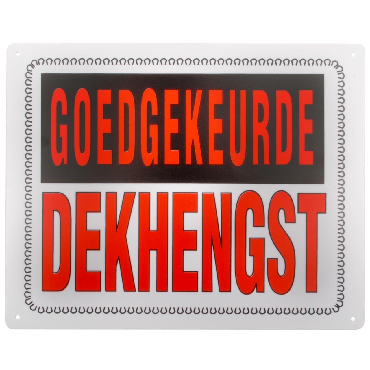Bord: goedgekeurde dekhengst