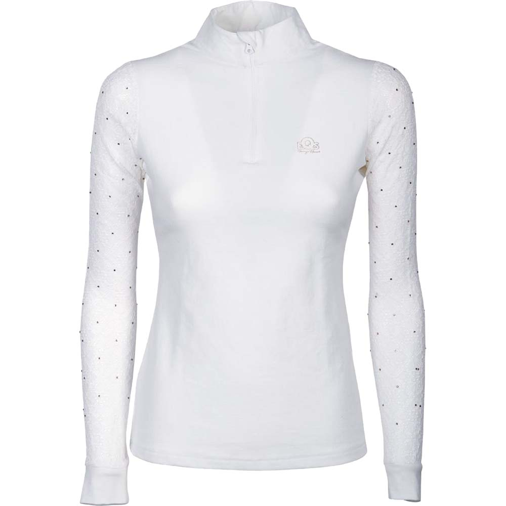 Harry's Horse Crystal Lace wedstrijdshirt wit maat:s