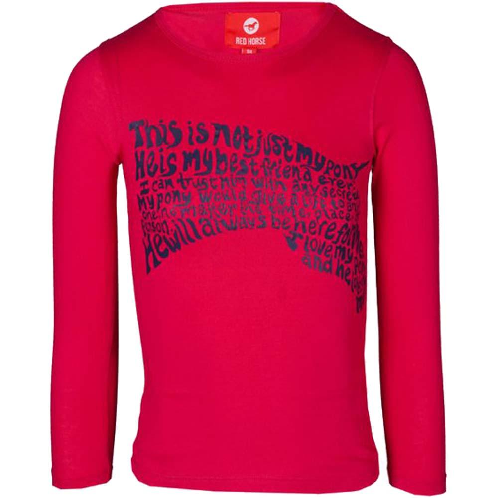 Red Horse Winner kinder shirt roze maat:140