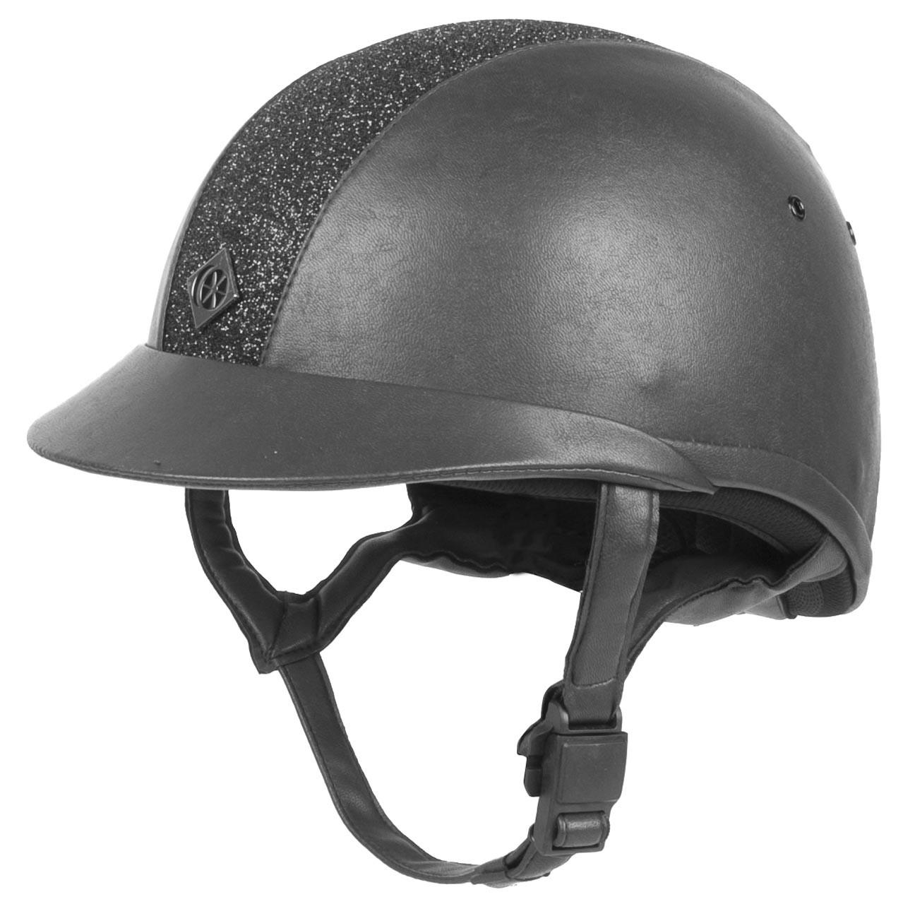 Charles Owen Elumen8 leather cap zwart maat:56