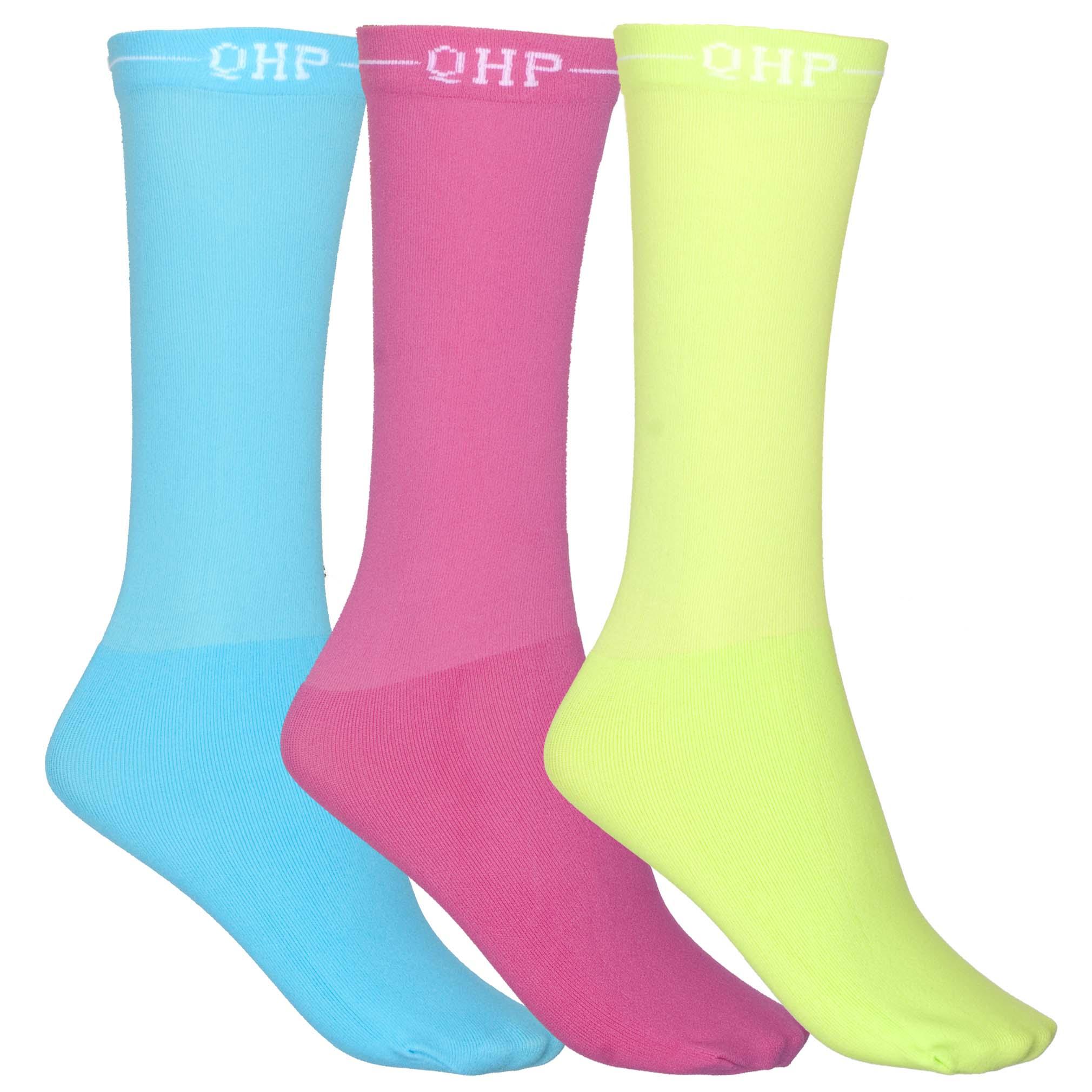 QHP Color showsokken fuchsia maat:39-42