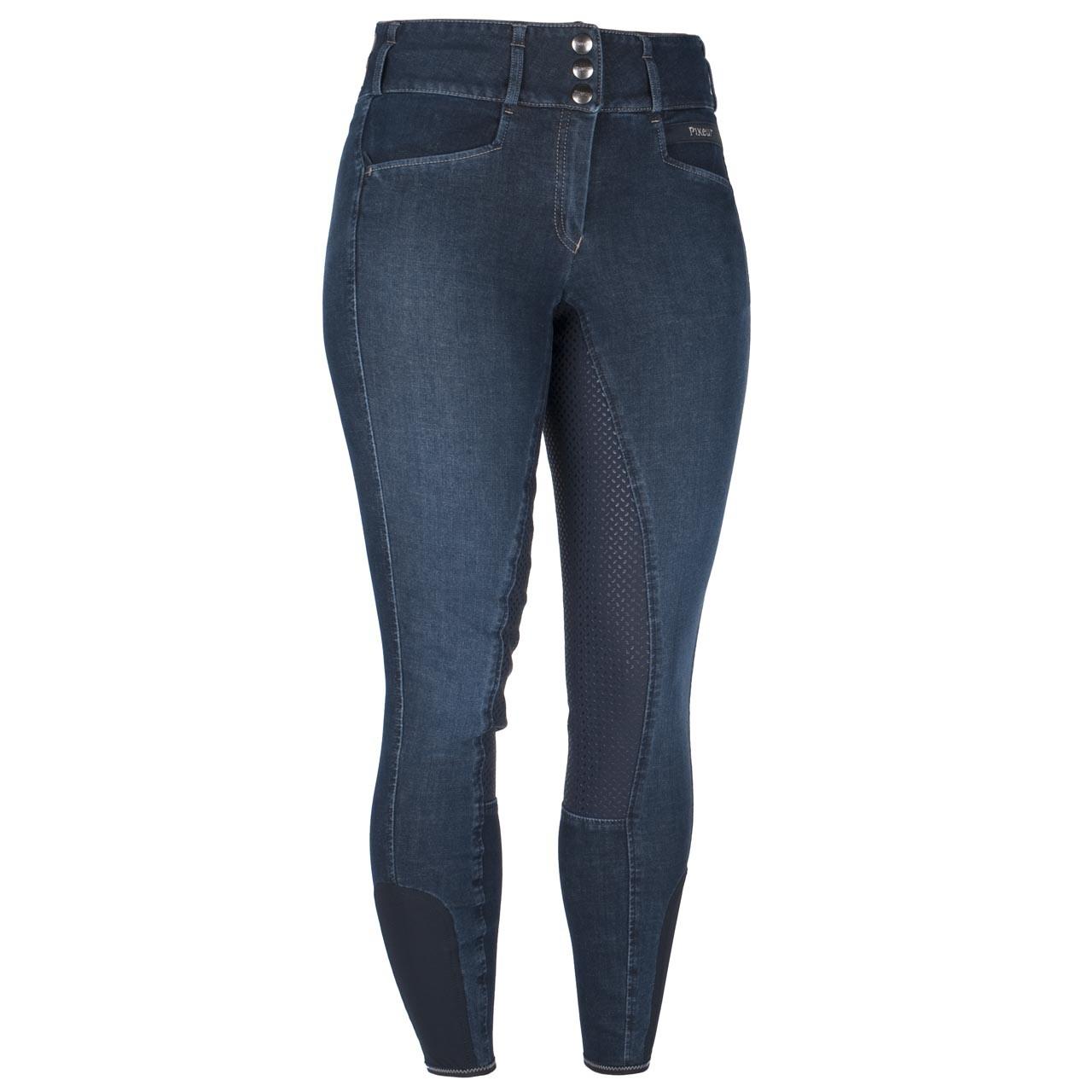 Pikeur Candela Grip jeans rijbroek blauw maat:44