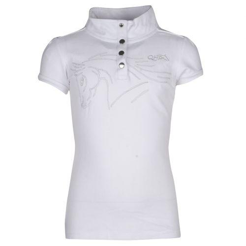 QHP Nola kinder wedstrijdshirt wit maat:128