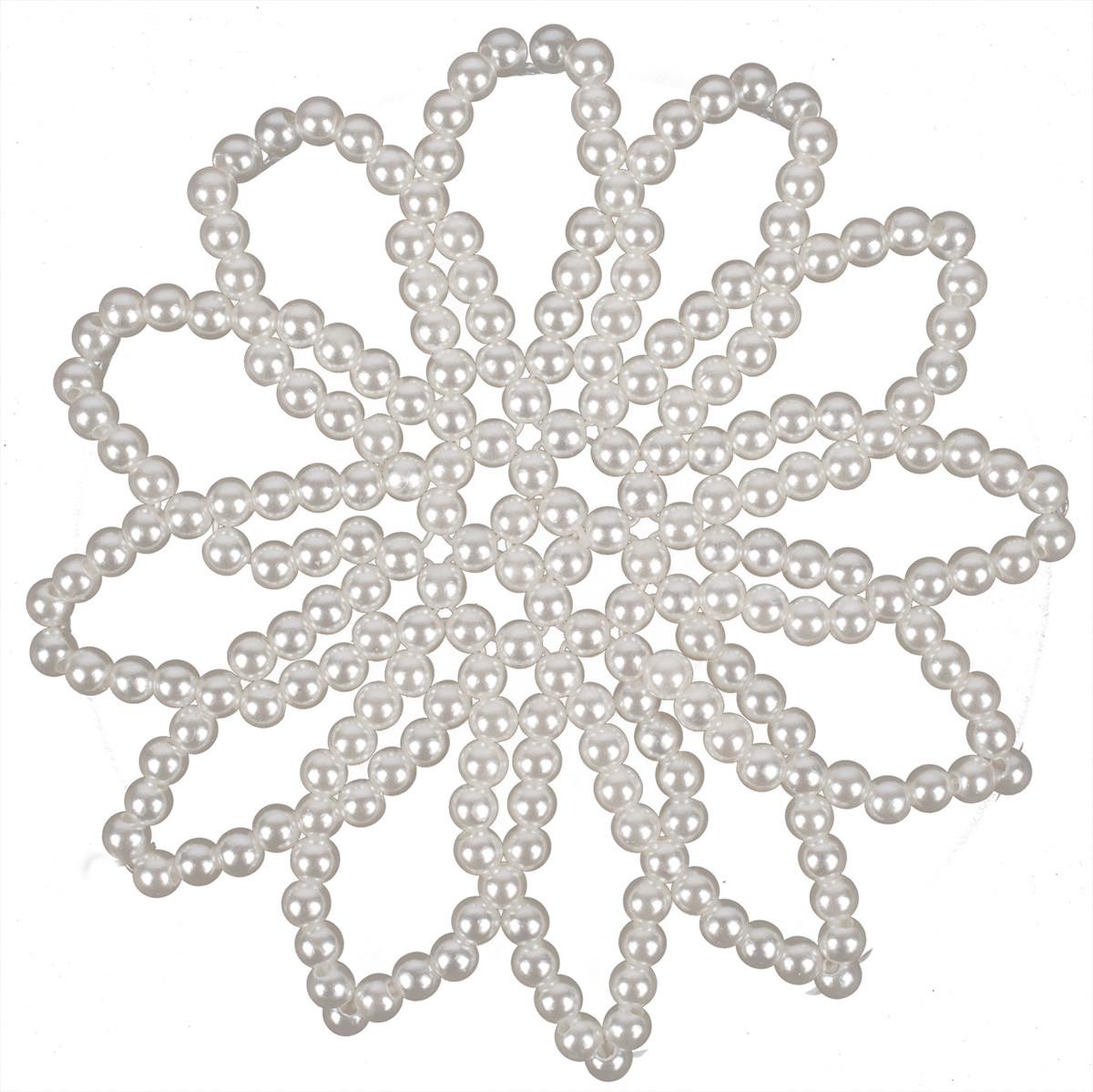 BR Pearl knotnetje wit