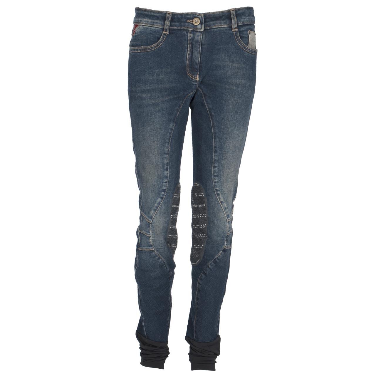 Animo Nabina kinder rijbroek jeans maat:152