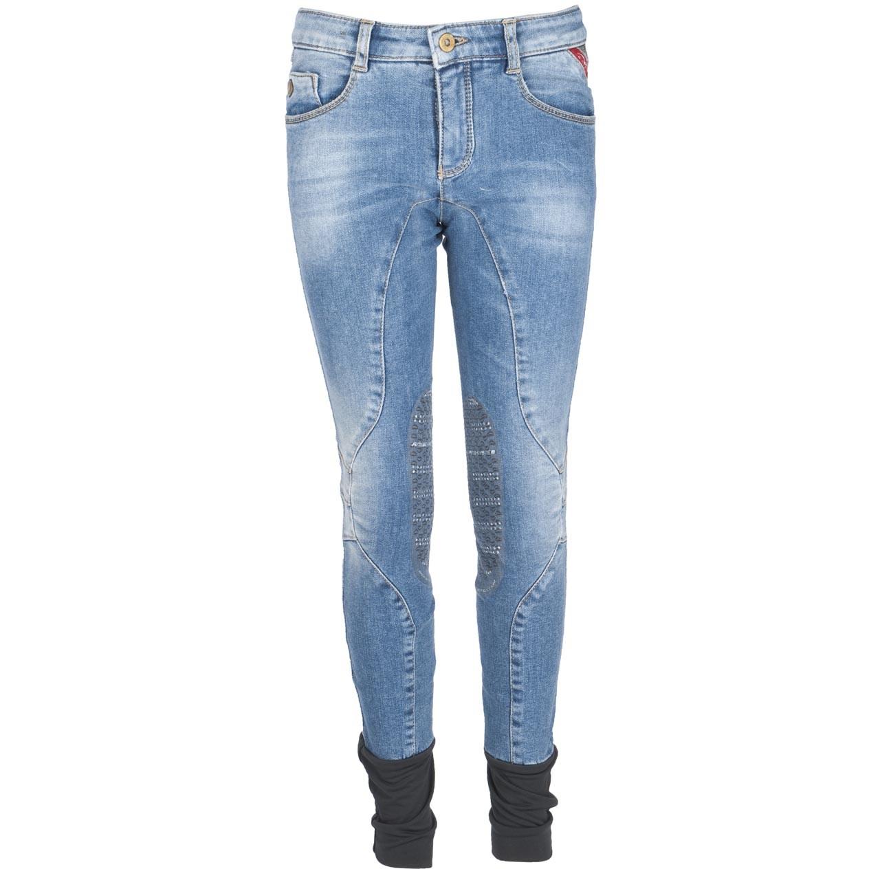 Animo Marnix kinder paardrijbroek jeans maat:140